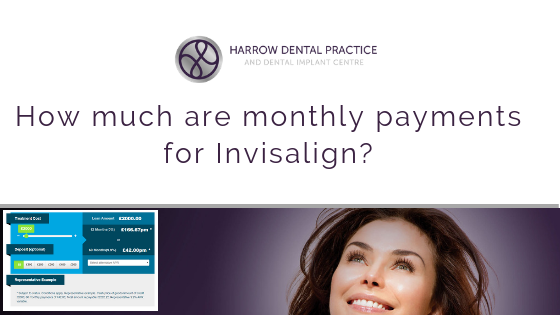 How much are monthly payments for Invisalign